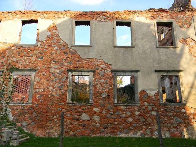 Grębocice, Dolny Śląsk, ruiny