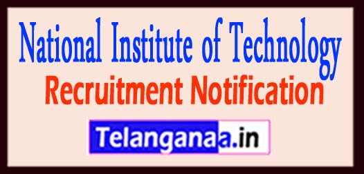 National Institute of Technology NIT Calicut Recruitment Notification 2017