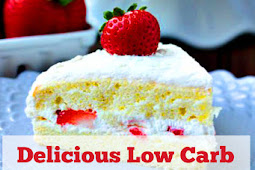 Delicious Low Carb Strawberry Sponge Cake