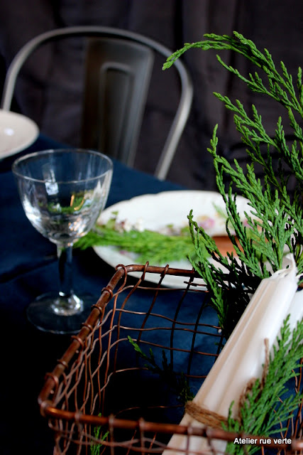 Table de Noël / Cuivre et sapin / Photos Atelier rue verte, le blog /