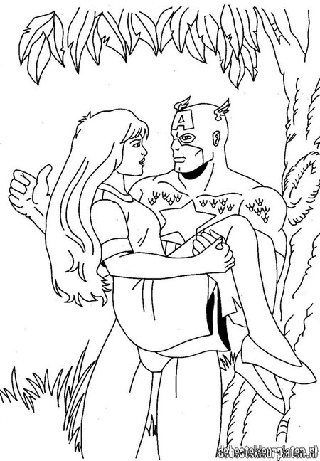disney captain america coloring pages - photo#11