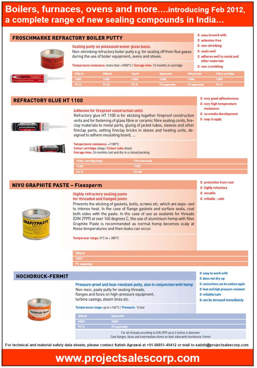 Sealing Compounds from Project Sales Corp: Fermit Sealants ...