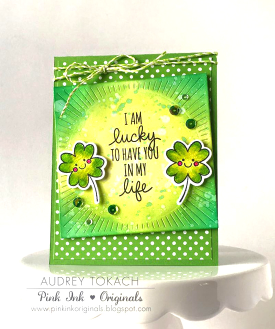 Lucky stamp set and Die-namics - Audrey Tokach #mftstamps