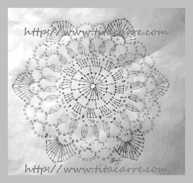 Regata Cropped Preta de Hexágonos em crochet