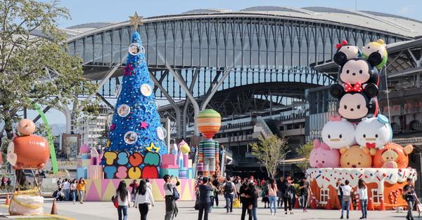 2019台中耶誕夢想世界|舊台中車站前廣場|迪士尼TSUM TSUM聖誕樹