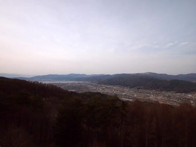 国道152号 杖突峠 展望台 諏訪湖