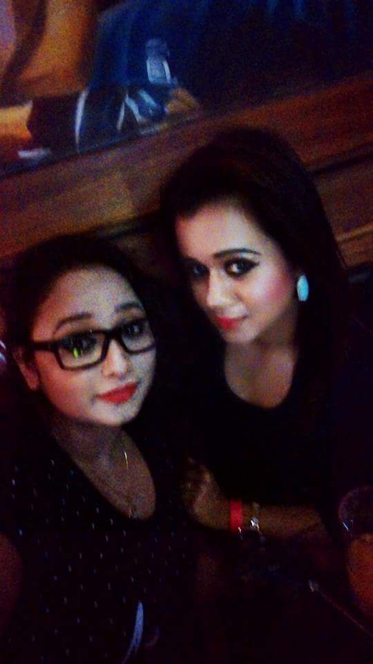 Gunjan Pant and Rani Chatterjee at the Ravi Kishan Birthday Party