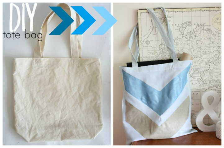 Summer DIY canvas tote bag