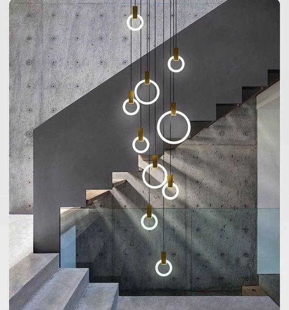 10 suspensions Modernes pour une cage d\'escalier | Blog Duo Creativ