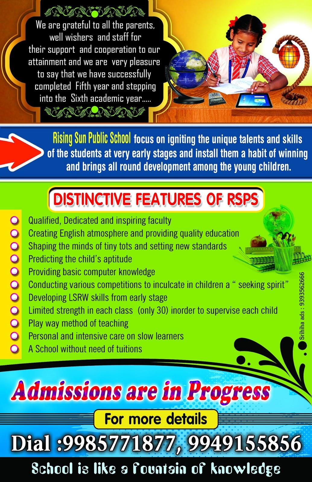 rising sun school brochure psd template free downloads