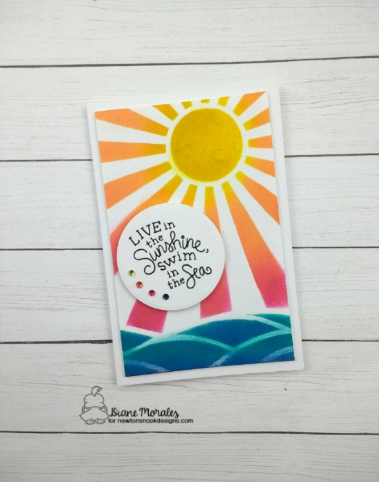 Live in the Sunshine, swim in the sea by Diane features Paradise Palms and Framework by Newton's Nook Designs; #newtonsnook