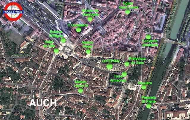 Mapa de Auch