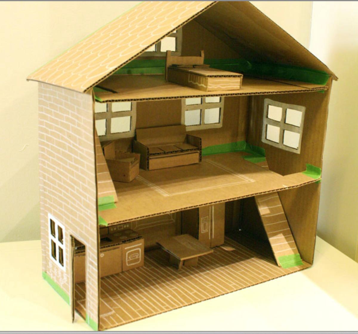 meggiecat: DIY Cardboard Box Toy House