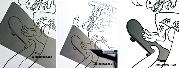 cara memasang screentone manga