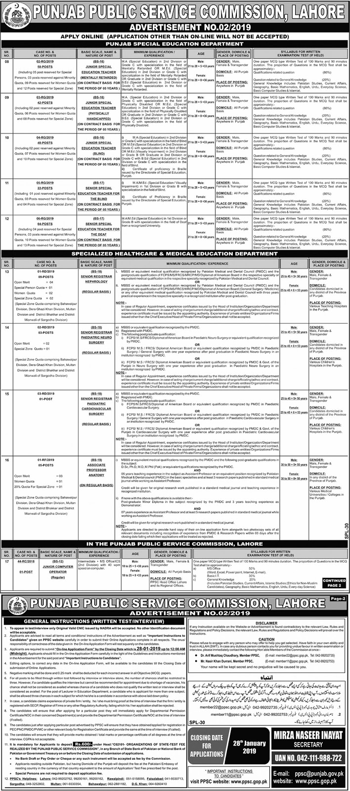 ppsc jobs 2019 | newpakjobs