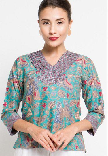 21 Model Baju Batik Print yang Unik, Elegant! - 1000+ Model Baju Batik Kantor