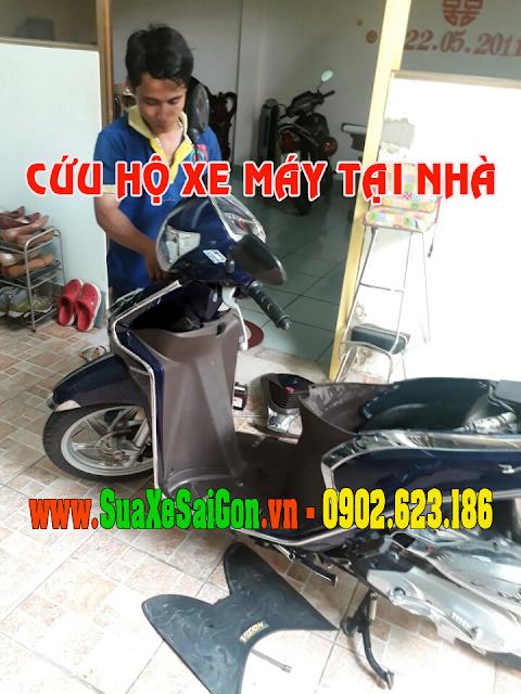 Cứu hộ xe máy Vision tại nhà - Dịch vụ cứu hộ xe máy tận nơi
