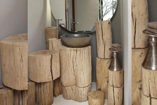 Pias de banheiro mais bizarras - Rústica ecológica 2