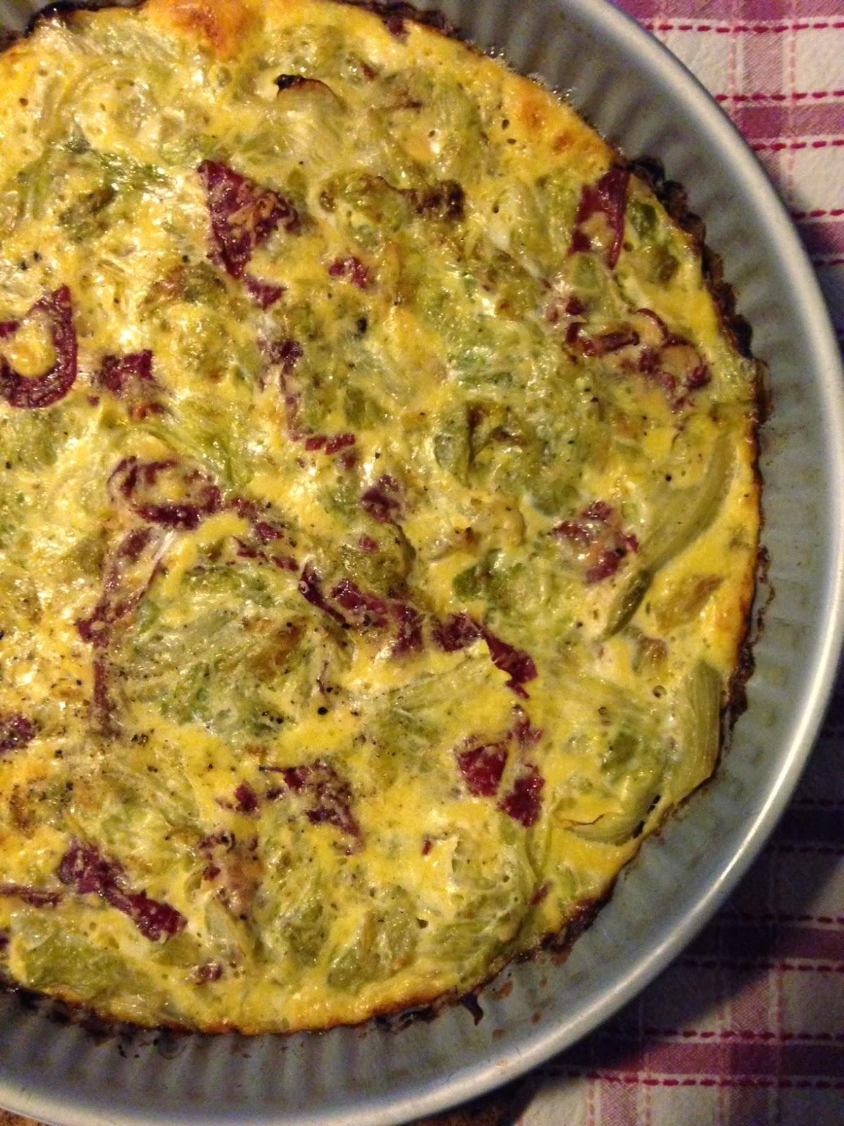 Super Frittata scarola e bresaola (cotta al forno). RK27