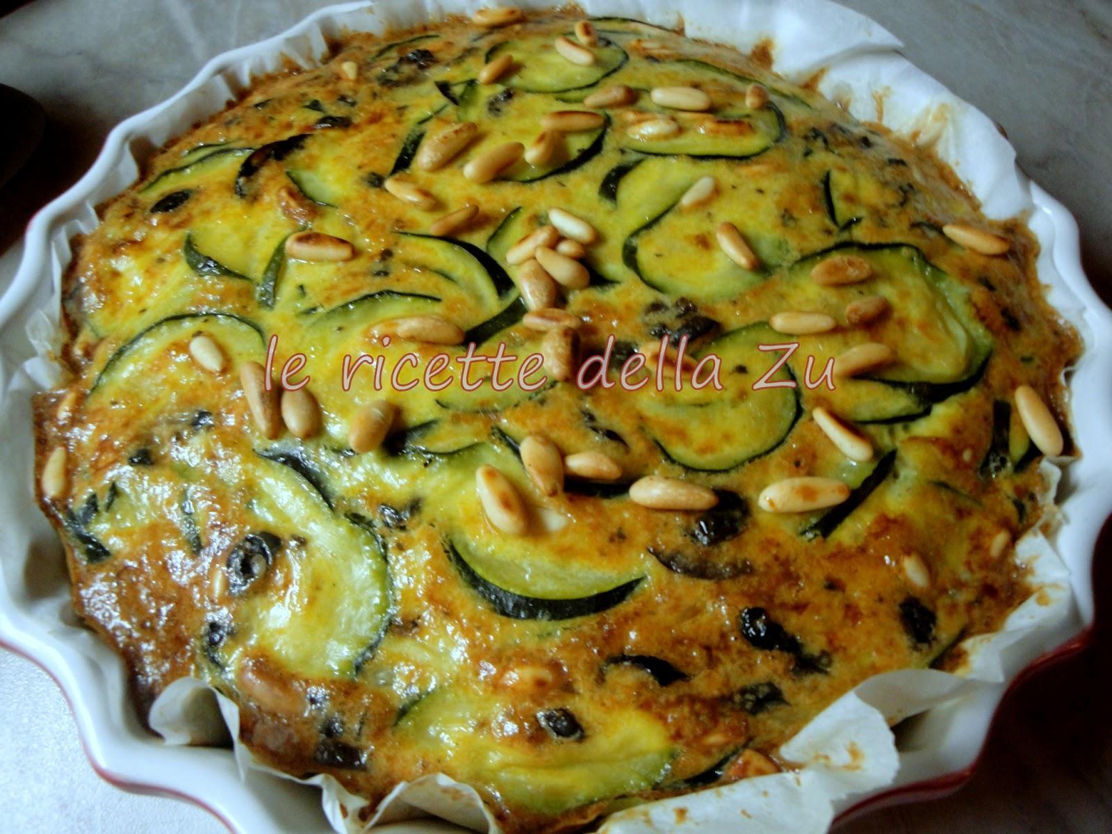 le ricette della zu frittata al forno con zucchine olive