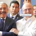 Danilo e Hipólito comparten amenamente durante inauguración de obra en Santiago