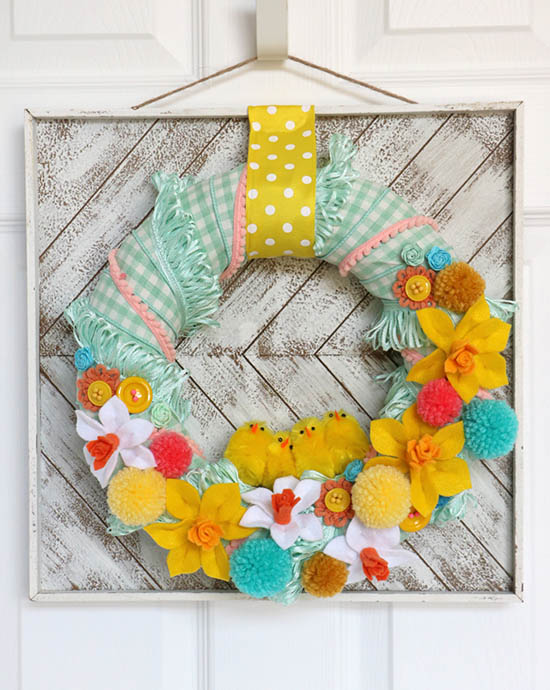 Giggles Galore - Colorful Easter Wreath