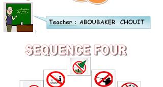 مذكرة اللغة الانجليزية للسنة الثالثة متوسط الجيل الثاني sequence 4