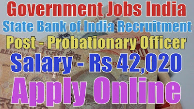 State bank of India recruitment 2017