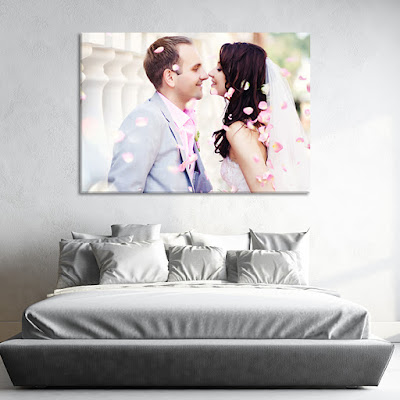 Married Couple Picture On Canvas