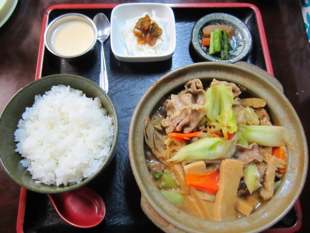 Wild Boar x Pig Meat Stew Set Miki 猪豚鍋定食 食事処味喜