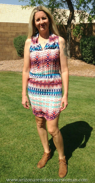 Renee C Abstract Print Dress (2) - Golden Tote Review - April 2016