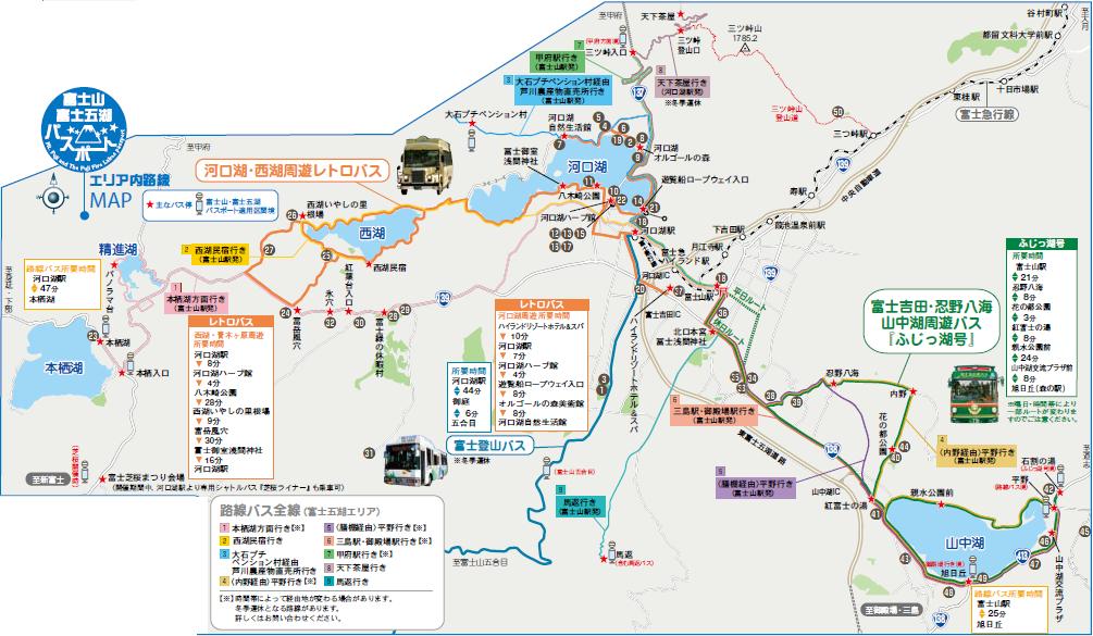 Transport Summary: 富士五湖 (河口湖) 交通套票 & 2017 富士芝櫻交通