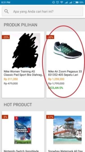 pilih produk di blibli.com