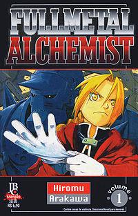 primeira capa do mangá de Fullmetal Alchemist da jbc