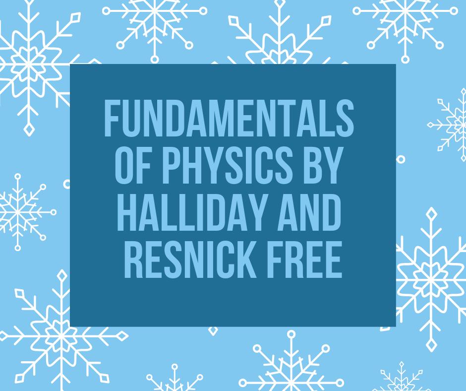 Fundamentals Of Physics 10th Edition Halliday Pdf