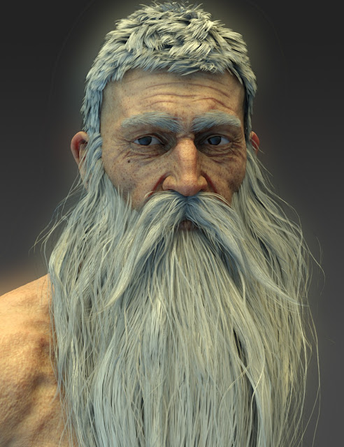 Wise Wizard HD Character for Genesis 8 Male
