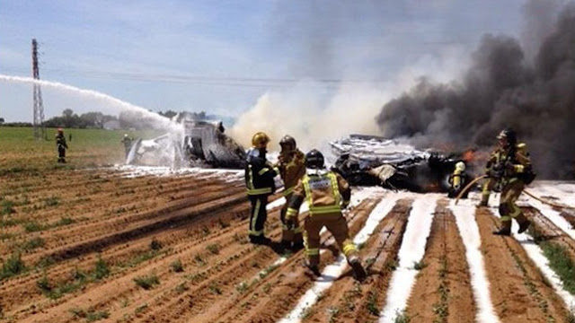 Accidente del Airbus A400M en Sevilla de 2015.