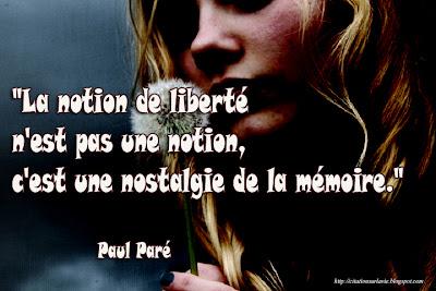 La notion de liberté