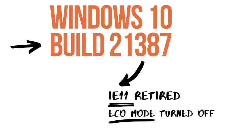 Microsoft drops Internet Explorer 11 with Windows 10 build 21387