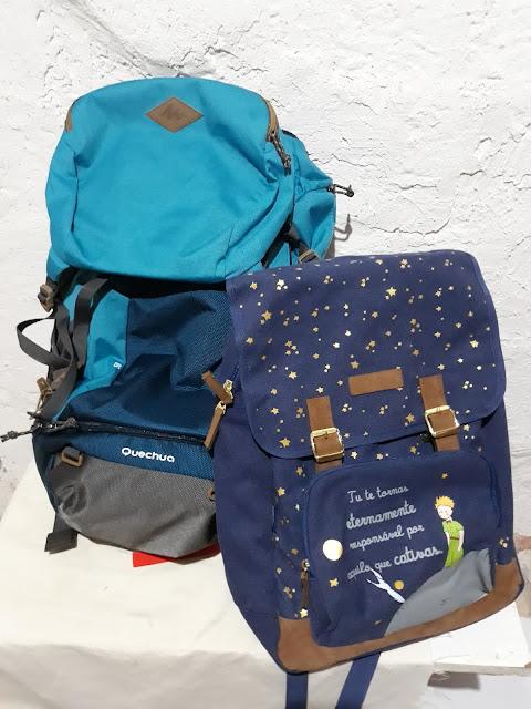 Minhas mochilas levam mais histórias que roupas