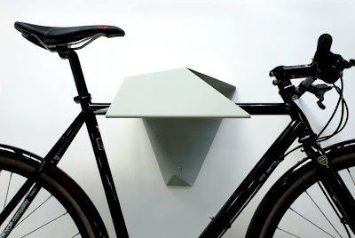 folded metal bike rack for the wall