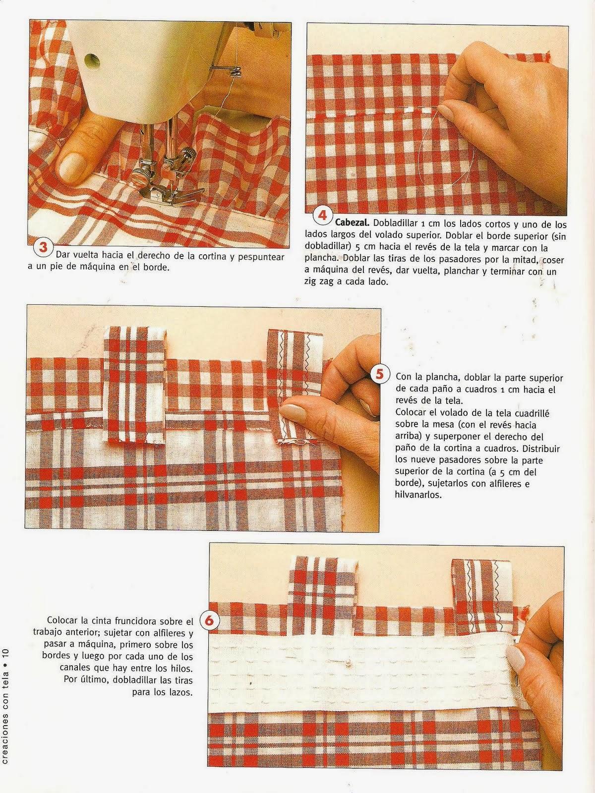 Como hacer cortinas revistas de manualidades gratis - Como hacer cortinas de cocina paso a paso ...