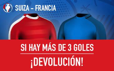 sportium mas tres goles devolucion Euro 2016 Suiza vs Francia 19 junio