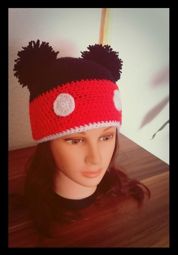 Sarahs Wollwahn Micky Maus Mütze