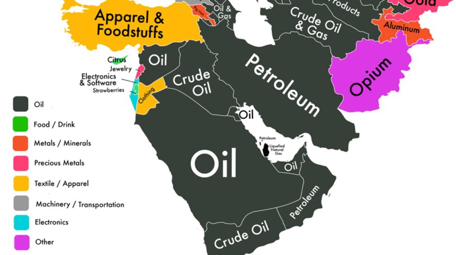 Map-showing-resources-of-countries-like-oil-and-gas-etc