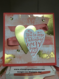Stampin' Up! Sure Do Love You Bundle Gold Foil Cardstock Painted with Love Speciality Designer Series Paper