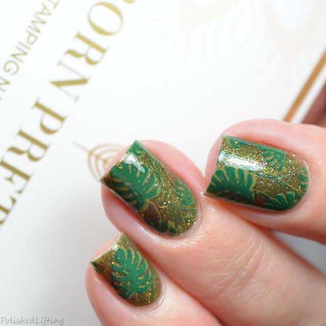 monstera deliciosa nail art