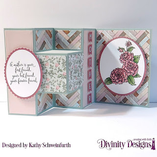 Divinity Designs Stamp Set: Daughter's Best Friend, Custom Dies: Half Shutter, Scalloped Ovals, Ovals, Alphabet Flag, Paper Collection: Romantic Roses