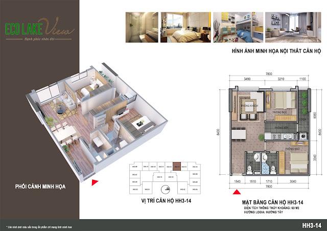 Thiết kế căn hộ số 13 tòa HH03