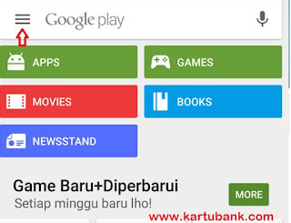 Menghapus Kartu Kredit Dari Play Store via Handphone